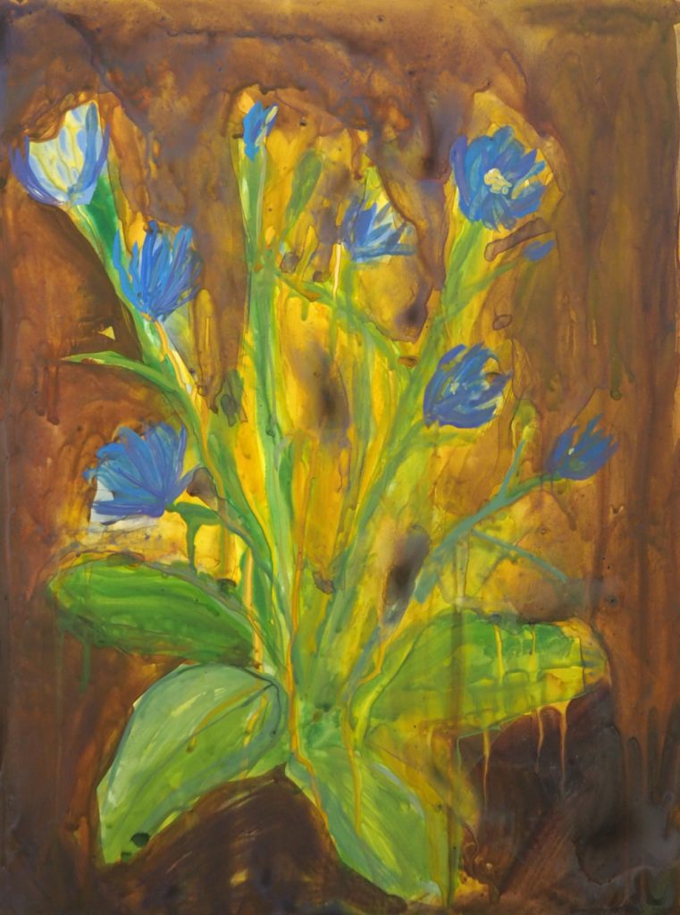 Painting of Chicory by Claire Elliott