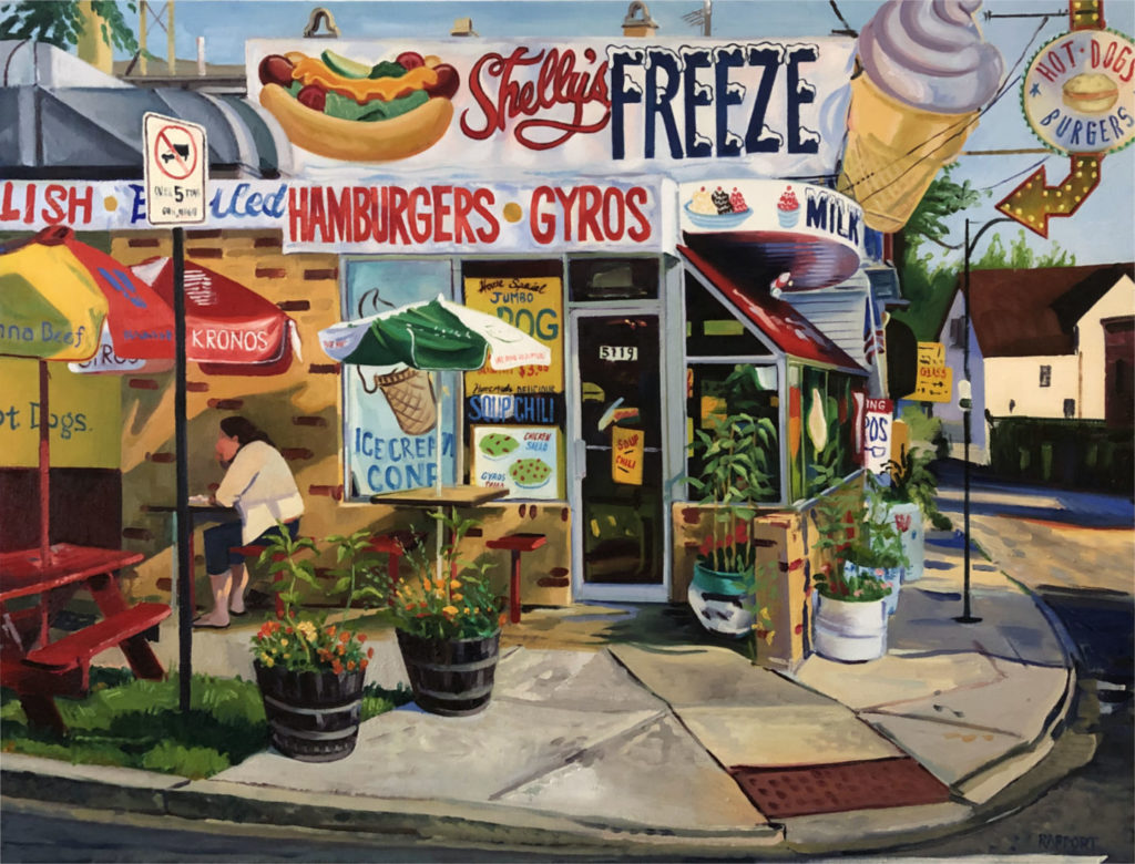 """Shelley's Freeze, oil on canvas, 30x40"""""""