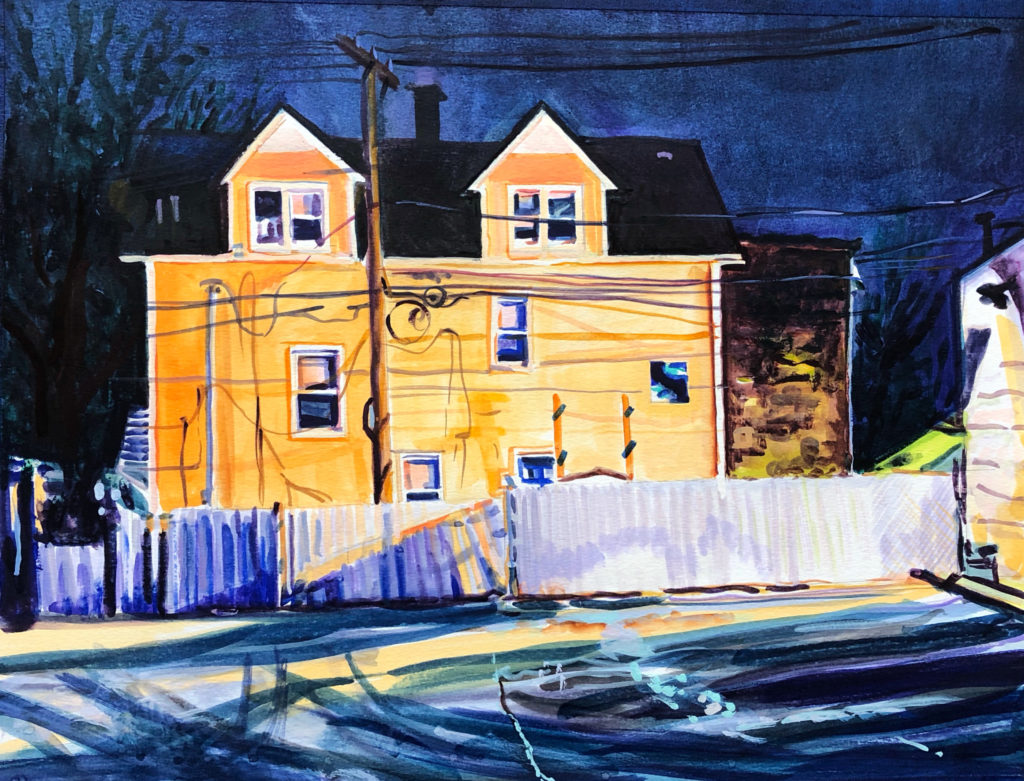 Western Ave, watercolor