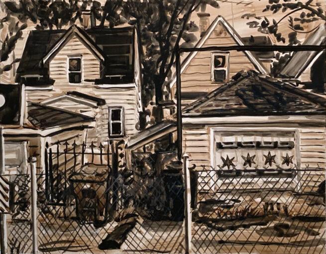 Painted Garage, Spaulding Ave